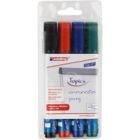 Набір маркерів для фліпчартів Flipchart (4 кольори) E-380/4/BL