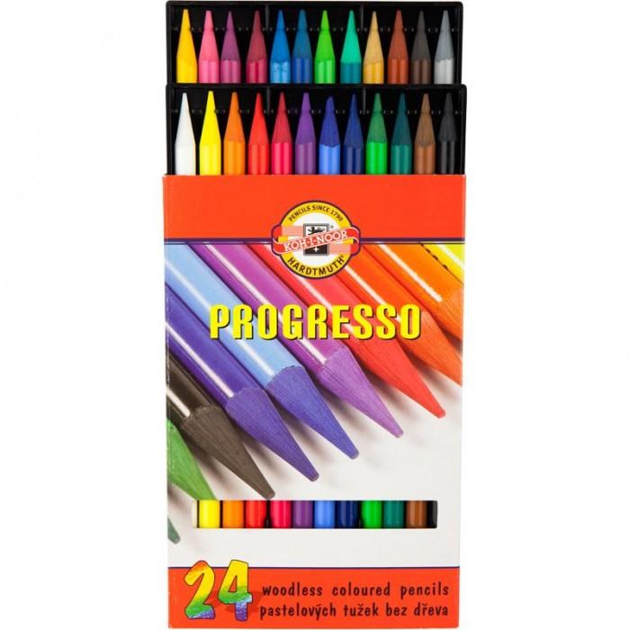 Карандаши цветные бездревесные художественные Progresso (24 цвета) 875802