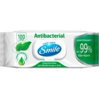 Салфетка влажная Antibacterial с подорожником, 100 шт., с клапаном (9 шт/ящ)