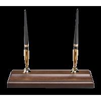 Підставка дерев'яна з двома кульковими ручками (горіх) 1158XDX