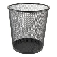 Корзина для бумаг круглая (черный) 2119-01-A