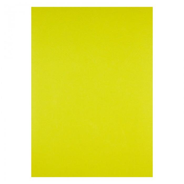 """Обкладинки картонні """"під шкіру"""" А4, 250мкм. (жовтий) 50шт. 2730-08-A"""