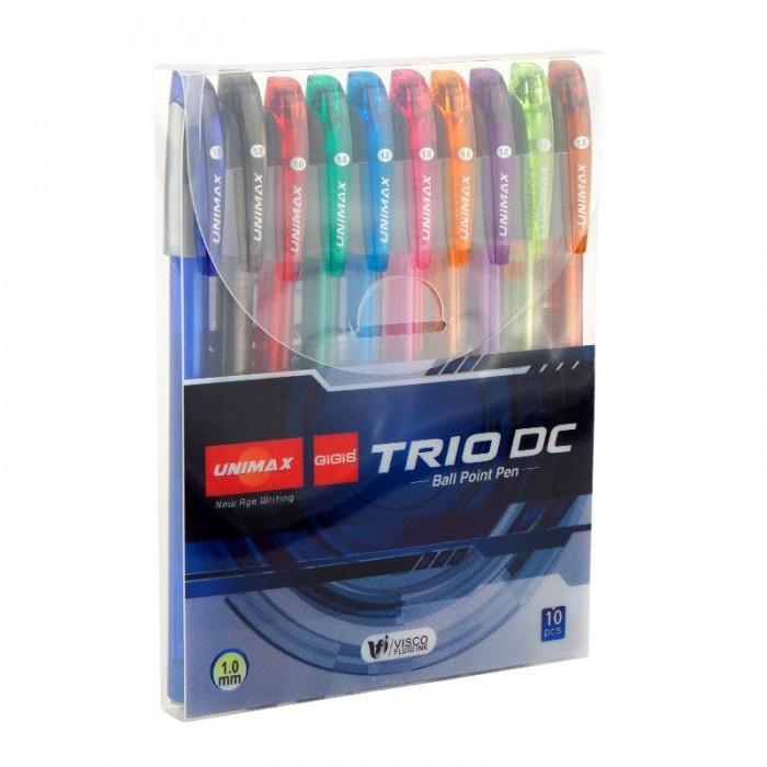 Набір кулькових ручок Trio DC-3 (10 кольорів) UX-108-20