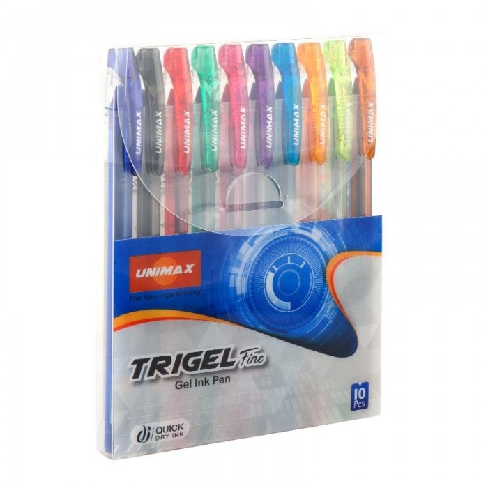 Набір гелевих ручок Trigel-3 (10 кольорів) UX-132-20
