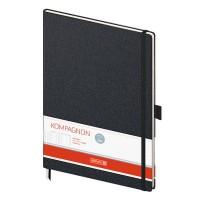 Книга записная Компаньон, черный А4, 192 лист. (клетка)