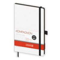 Книга записна Компаньйон, біла А5, 192 арк. (клітинка)