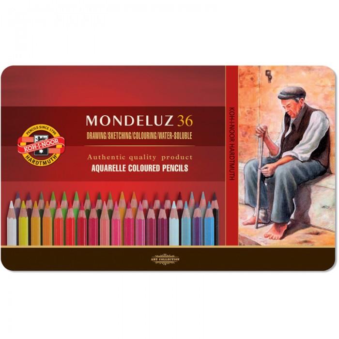 Карандаши акварельные Mondeluz подарочные (36 цветов) 3725