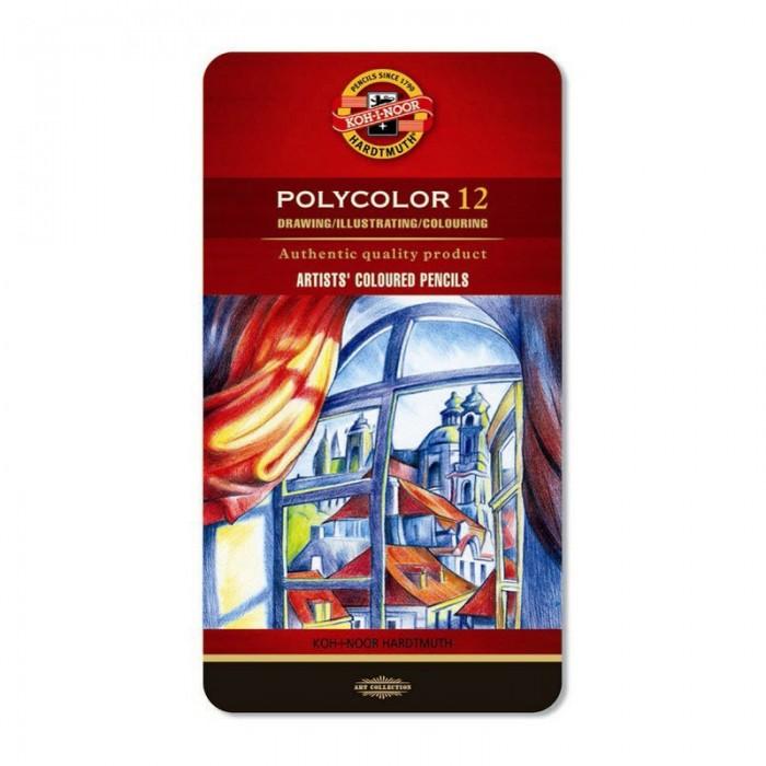 Олівці кольорові художні Polycolor подарункові (12 кольорів) 3822012002PL