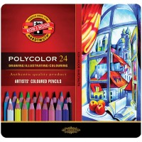 Карандаши цветные художественные Polycolor подарочные (24 цвета)  3824024002PL