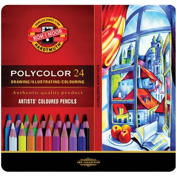 Олівці кольорові художні Polycolor подарункові (24 кольори)  3824024002PL