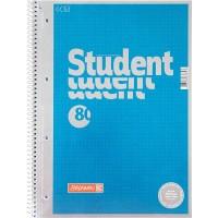 Колледж-блок Premium (голубой металлик) точка, 80л. А4
