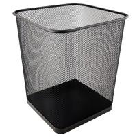 Корзина для бумаг квадратная (черный) 2124-01-A