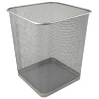 Корзина для паперів квадратна (срібний)  2124-03-A