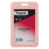 Бейдж вертикальный пластиковый 70х110мм (розовый) 5шт/уп 4530-10-A