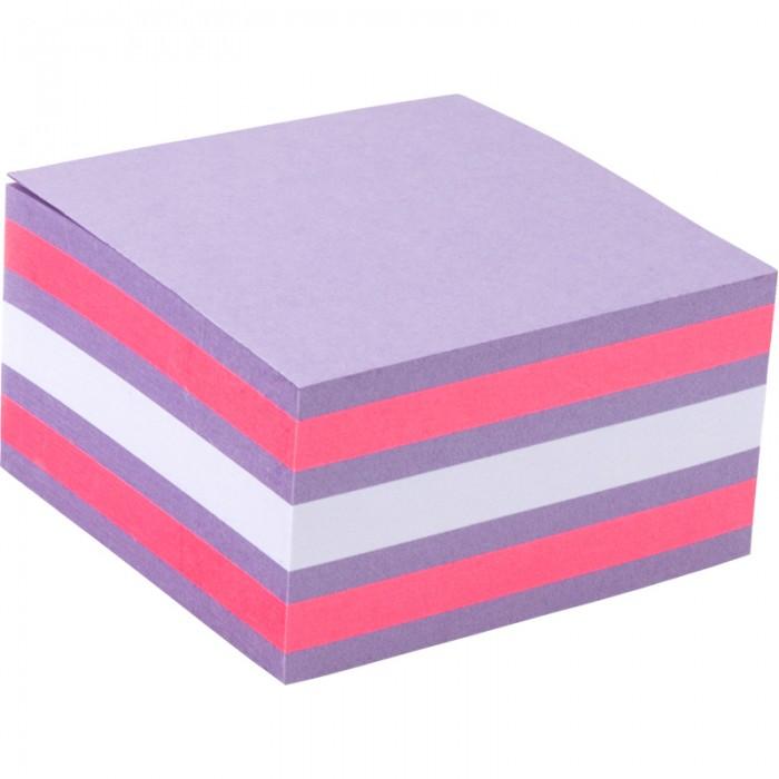 Блок бумаги с липким слоем, 75x75 мм, 450 листов. Ассорти цветов. Плотность 75 г/м2. 2326-63-a