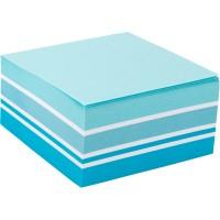 Блок бумаги с липким слоем, 75x75 мм, 400 листов. Ассорти пастельных голубых цветов. Плотность 75 г/м2.