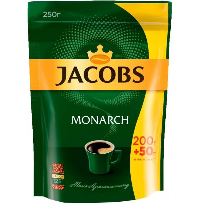 Кава розчинна Jacobs Monarch, 250гр, пакет