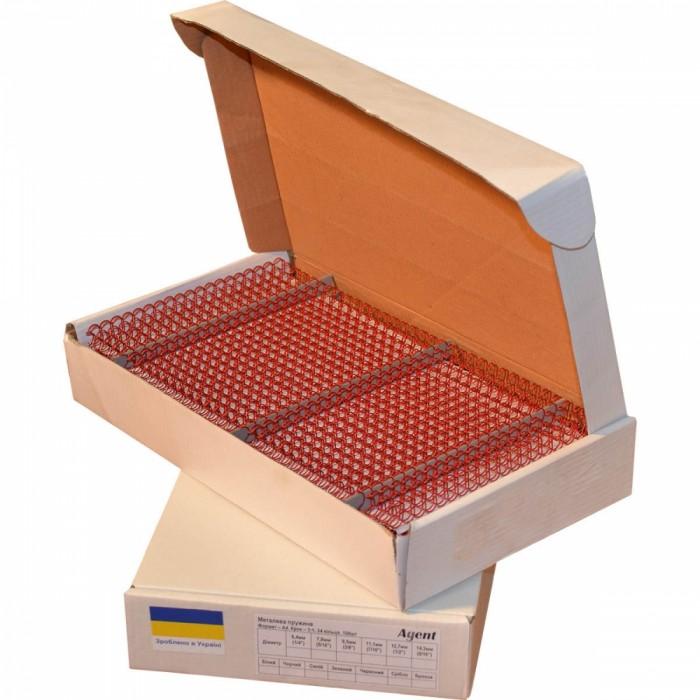 Пружины металлические А4 12,7мм, Красные  100шт