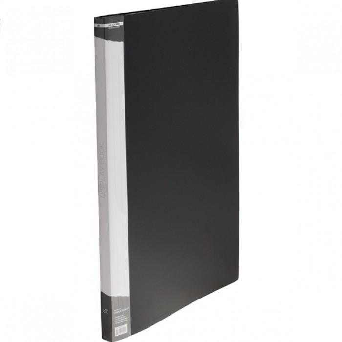 Папка с 20 файлами, А3, гладкий пластик (черная) bm.3610-01