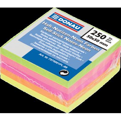Блок бумаги для записей NEON с клейким слоем (50х50мм) 7575001PL
