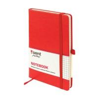 Книга записна Partner Lux 125х195мм (червоний/клітинка) 8202-06-A