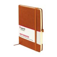 Книга записна Partner Lux 125х195мм (коричневий/клітинка) 8202-19-A
