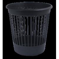Корзина для бумаги с прорезями (черная) 82061