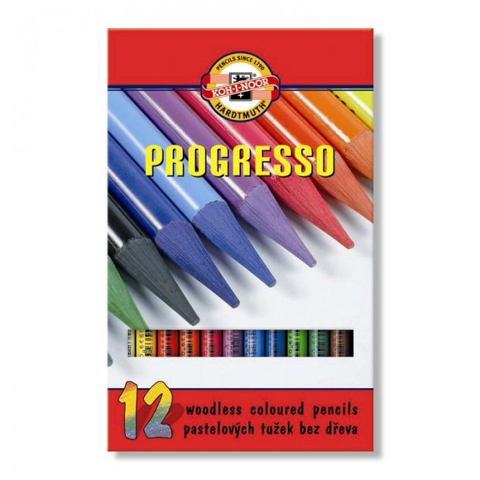 Карандаши цветные бездревесные художественные  Progresso (12 цветов)  875601