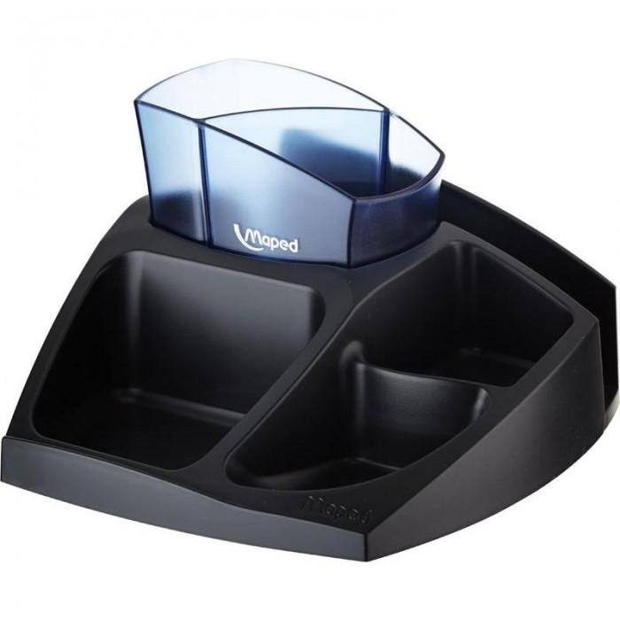 Подставка для офисных принадлежностей Essential Green Compact (черный с синим)  MP.575400