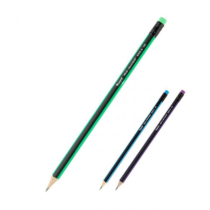Карандаш чернографитовый с ластиком НВ  9006/100-A