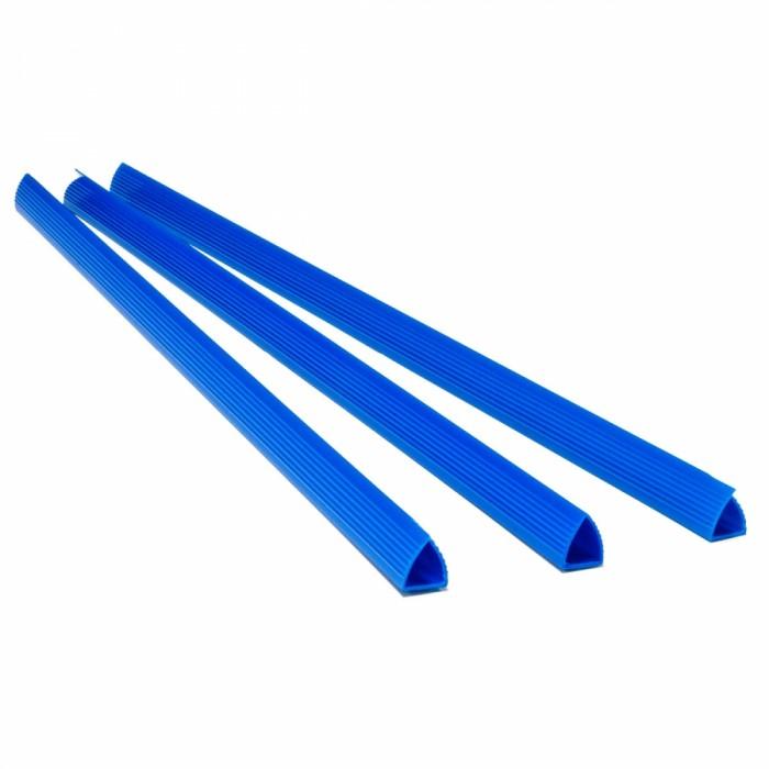 Планка-зажим 6мм. 100шт. (синий) 1405073