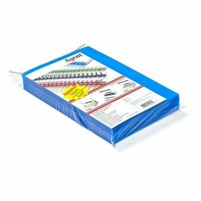 Обкладинки Пластик  Satin  А4, 400мкм. (100шт) сині