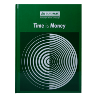 Книга канцелярська А4 Час-гроші 96 аркушів, зелений (клітинка) bm.2400-104