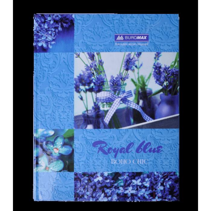 Книга канцелярская BOHO CHIC А4 96 листов (клетка) синий bm.2400-202