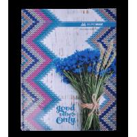 Книга канцелярська Romantic А4 96 аркушів (клітинка) синій bm.2400-302