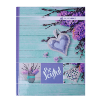 Книга канцелярська Romantic А4 96 аркушів (клітинка) бірюзовий bm.2400-306
