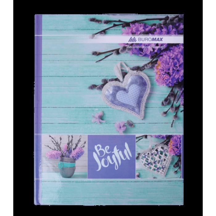 Книга канцелярская Romantic А4 96 листов (клетка) бирюзовый  bm.2400-306