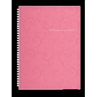 Зошит для записів  Barocco А4, 80л. (клітинка) рожевий  bm.2446-610