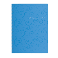 Зошит для записів  Barocco А4, 80л. (клітинка) блакитний  bm.2446-614