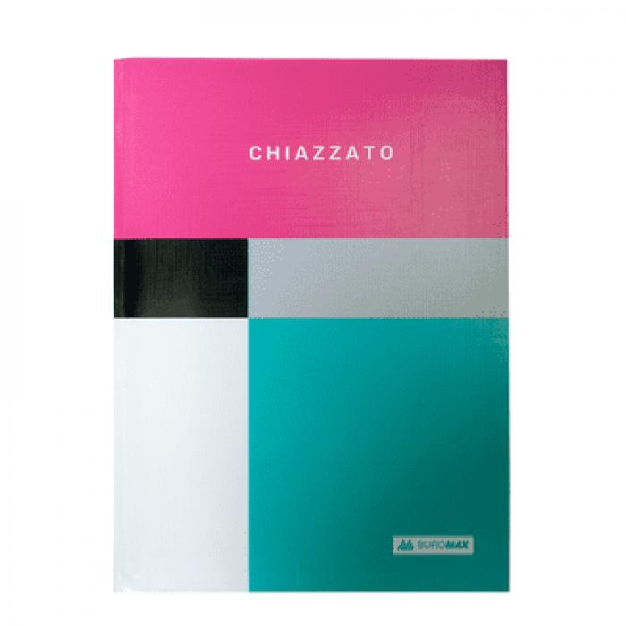 Блокнот Chiazzato А5, 80 аркушів, інтегральна обкладинка (рожевий)  BM.24522102-10