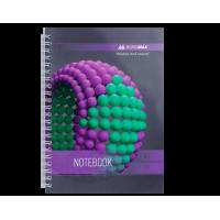 Тетрадь на пружине Sphere А5, 80 листов (боковая спираль) фиолетовый bm.24552101-07