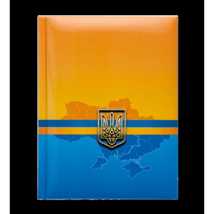 Блокнот Ukraine А5, 80 аркушів, тверд.обкладинка (синій)  BM.24582101-02