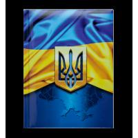 Блокнот Ukraine А5, 80 аркушів, тверд.обкладинка (т.-синій) BM.24582101-03