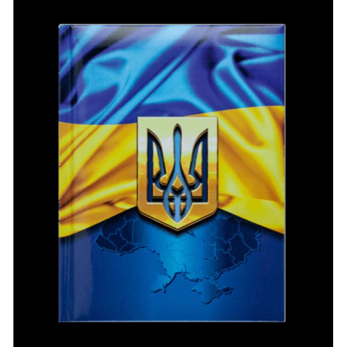 Блокнот Ukraine А5, 80 листов, тверд.обложка (т.-синий)  BM.24582101-03
