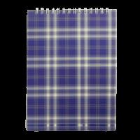 Блокнот А5, 48 листов (верхняя спираль) синий  bm.2470-02