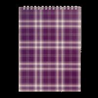 Блокнот А5, 48 аркушів (верхня спіраль) фіолетовий bm.2470-07