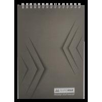 Блокнот А5, 48 аркушів (верхня спіраль) Jobmax, сірий