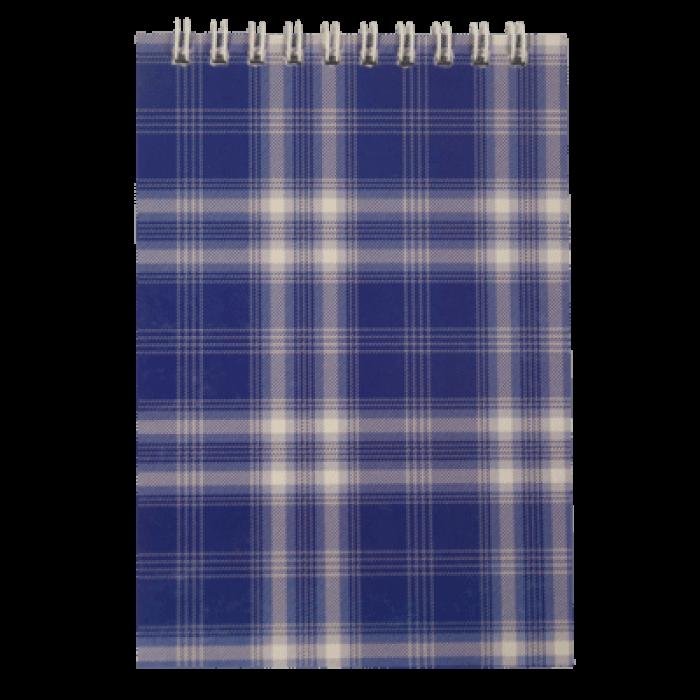 Блокнот А6, 48 листов (верхняя спираль) клетка, синий