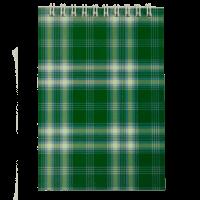 Блокнот А6, 48 аркушів (верхня пружина) клітинка, зелений