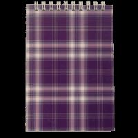 Блокнот А6, 48 листов (верхняя спираль) клетка, фиолетовый